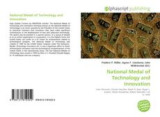 Bookcover of National Medal of Technology and Innovation
