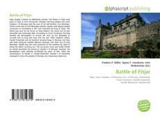 Bookcover of Battle of Fitjar