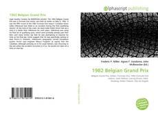 Capa do livro de 1982 Belgian Grand Prix