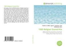 1985 Belgian Grand Prix kitap kapağı