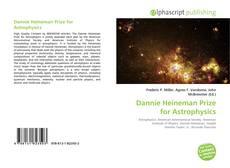 Dannie Heineman Prize for Astrophysics的封面