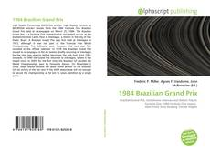 1984 Brazilian Grand Prix kitap kapağı