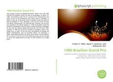 Buchcover von 1986 Brazilian Grand Prix