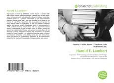 Couverture de Harold E. Lambert