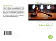 Обложка Histoire du Droit