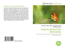 Bookcover of Endemic Birds of the West Indies