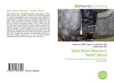 """Matt Winn (Martin J. """"Matt"""" Winn) kitap kapağı"""