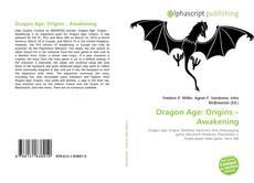 Capa do livro de Dragon Age: Origins – Awakening