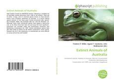 Bookcover of Extinct Animals of Australia