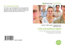 Bookcover of Civil and political rights