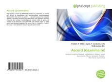 Bookcover of Accord (Grammaire)
