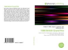 Buchcover von 1986 British Grand Prix