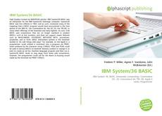 Bookcover of IBM System/36 BASIC