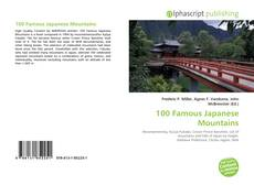 Bookcover of 100 Famous Japanese Mountains