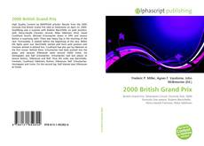 Capa do livro de 2000 British Grand Prix