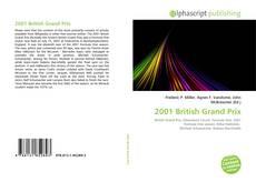 Capa do livro de 2001 British Grand Prix