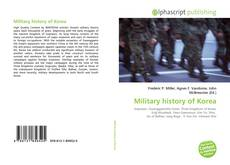 Bookcover of Military history of Korea