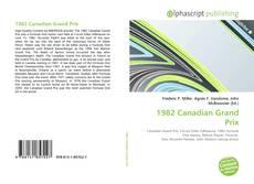 Capa do livro de 1982 Canadian Grand Prix