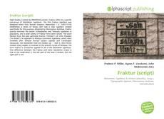 Bookcover of Fraktur (script)
