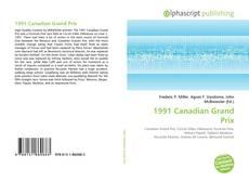 Capa do livro de 1991 Canadian Grand Prix