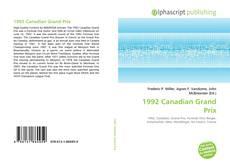 Capa do livro de 1992 Canadian Grand Prix