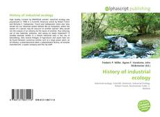 Bookcover of History of industrial ecology