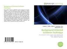 Bookcover of Background Oriented Schlieren Technique