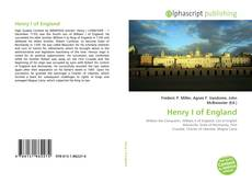 Bookcover of Henry I of England