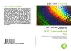 Capa do livro de 2000 Canadian Grand Prix