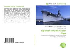 Bookcover of Japanese aircraft carrier Kaga