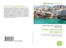 Bookcover of Croats of Bosnia and Herzegovina