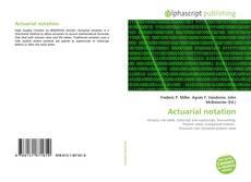 Portada del libro de Actuarial notation