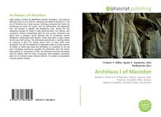 Bookcover of Archelaus I of Macedon