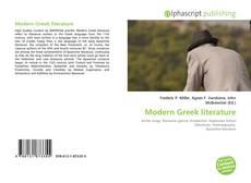 Bookcover of Modern Greek literature