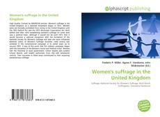 Bookcover of Women's suffrage in the United Kingdom