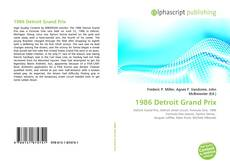 Bookcover of 1986 Detroit Grand Prix
