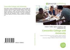 Bookcover of Concordia College and University