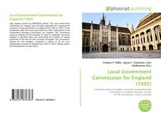 Bookcover of Local Government Commission for England (1992)