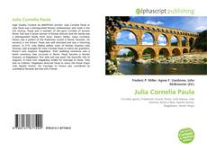 Bookcover of Julia Cornelia Paula