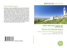 Bookcover of Elena of Montenegro