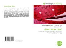Bookcover of Ghost Rider (film)