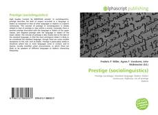 Bookcover of Prestige (sociolinguistics)