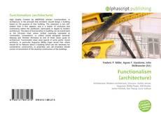 Buchcover von Functionalism (architecture)