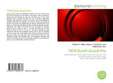 Capa do livro de 1979 Dutch Grand Prix