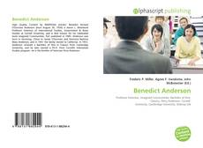 Bookcover of Benedict Anderson