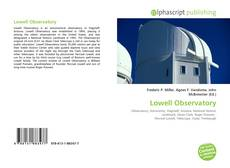 Capa do livro de Lowell Observatory
