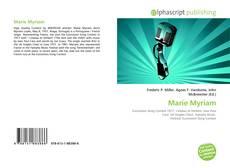 Portada del libro de Marie Myriam