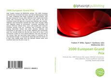 Capa do livro de 2000 European Grand Prix
