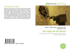 Bookcover of Lee style tai chi chuan