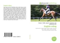 Bookcover of English riding